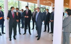 The President of Kazakhstan visits the Main Botanical Garden of Almaty