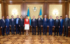 Meeting on the capital city's 20th anniversary and the birthday of the President of Kazakhstan
